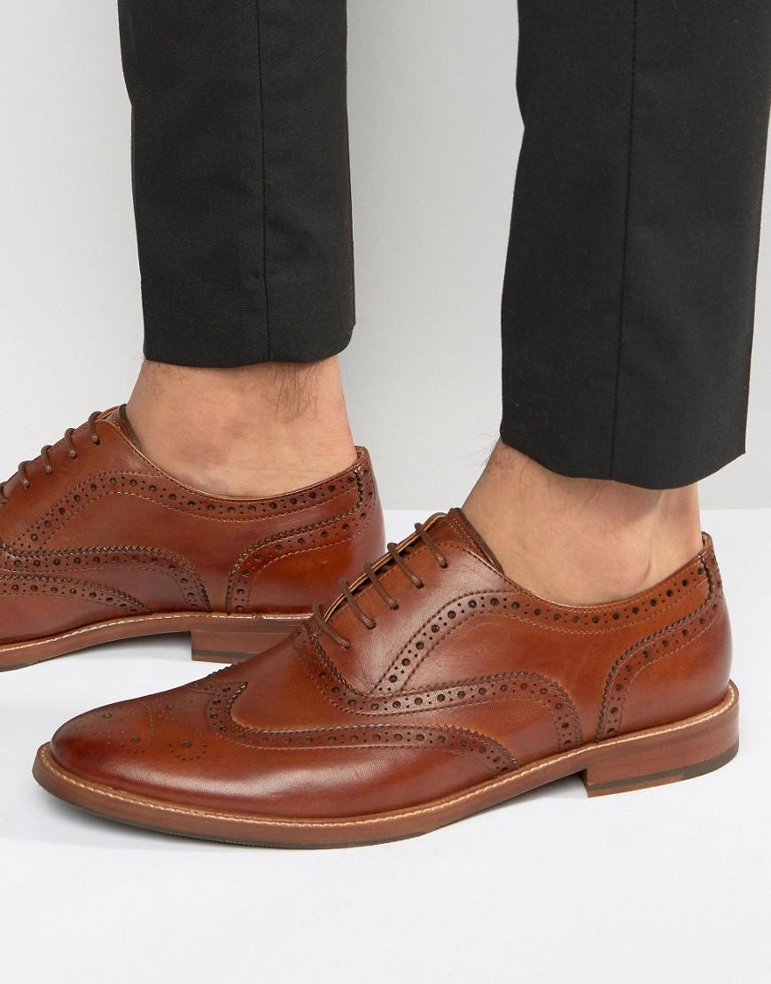 Aldo Chaussures Richelieu En Cuir En Tan - Marron uS52tzYDGn