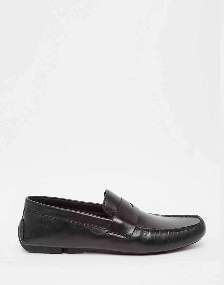 Penny Loafer In Black Leather - Black Redtape jbzVK
