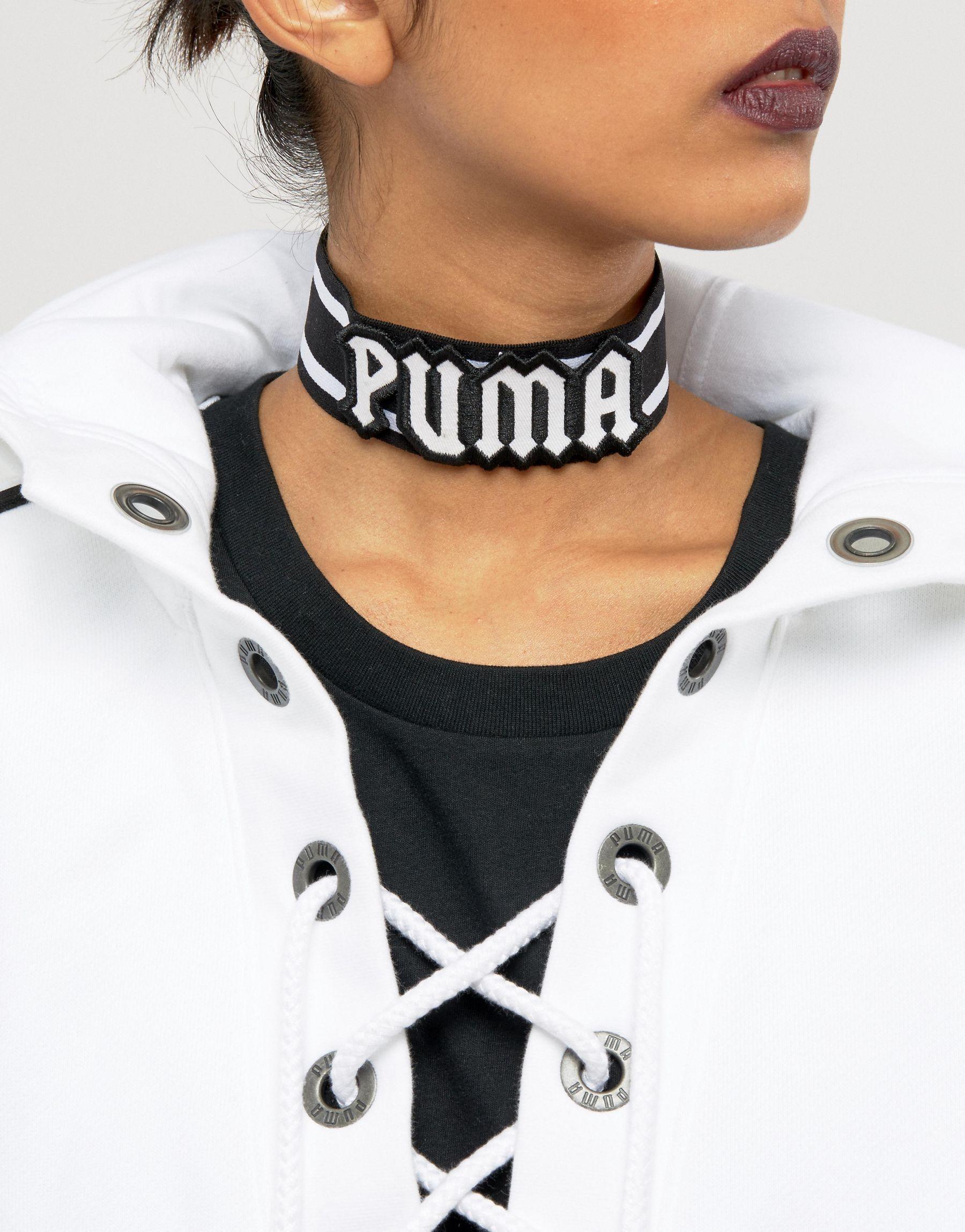 fenty x by rihanna logo choker in black lyst
