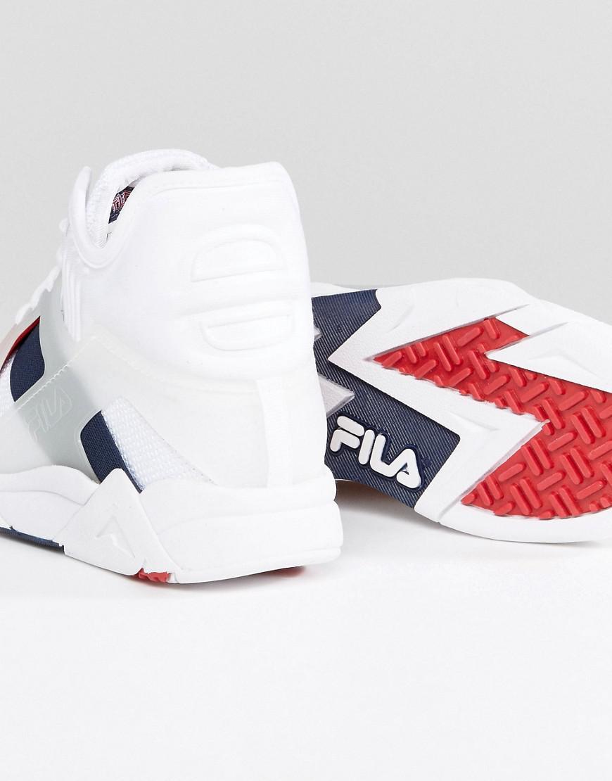 75e43106fd51 Lyst - Fila Cage 17 Sneakers In White in White