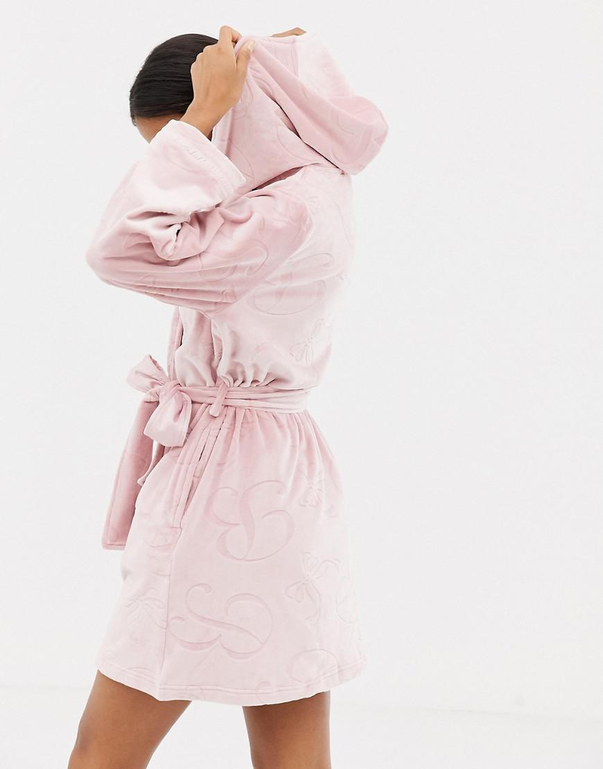 Ted Baker B By Embossed Dressing Gown In Pink Lyst