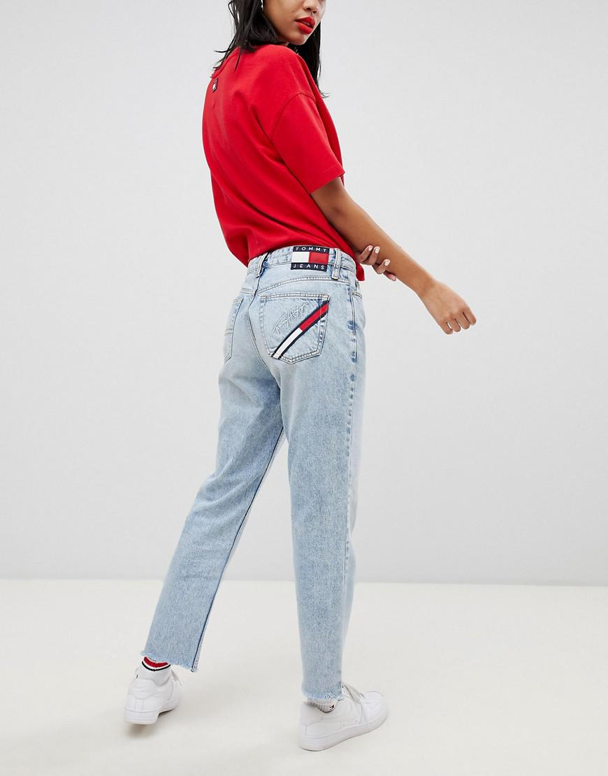1c1e8842 Tommy Hilfiger 90s Capsule 5.0 Mom Jeans in Blue - Lyst