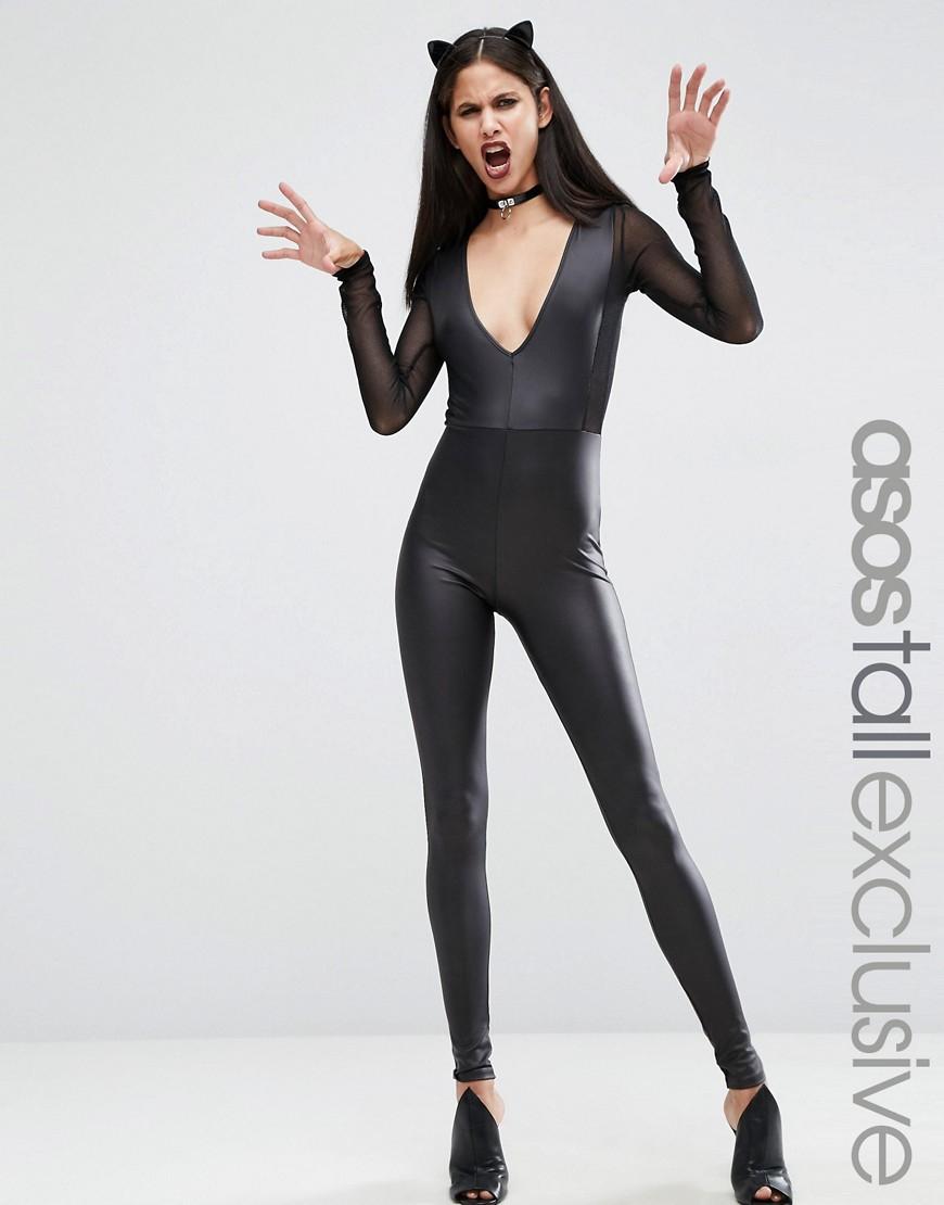 Sexy Cat Girl Black Hair