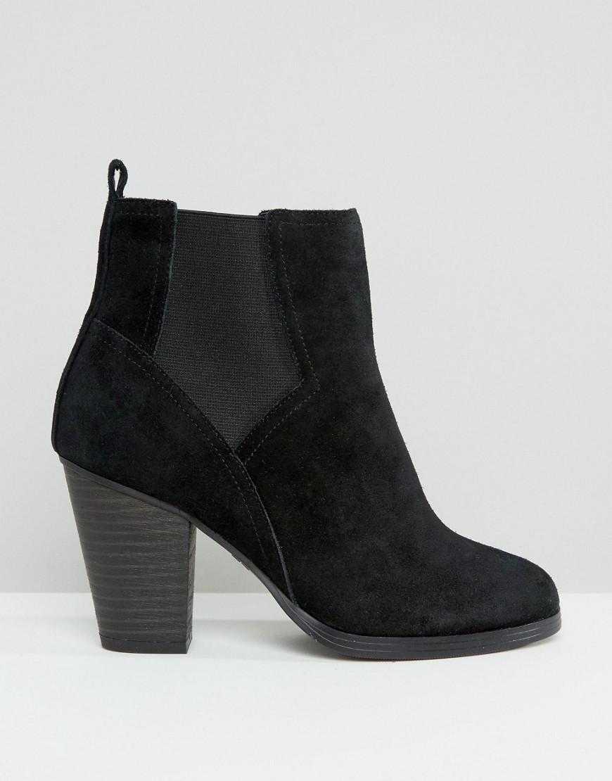 new look suede chelsea boot in black lyst
