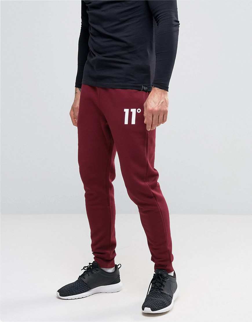 11 degrees Skinny Joggers in Red for Men | Lyst