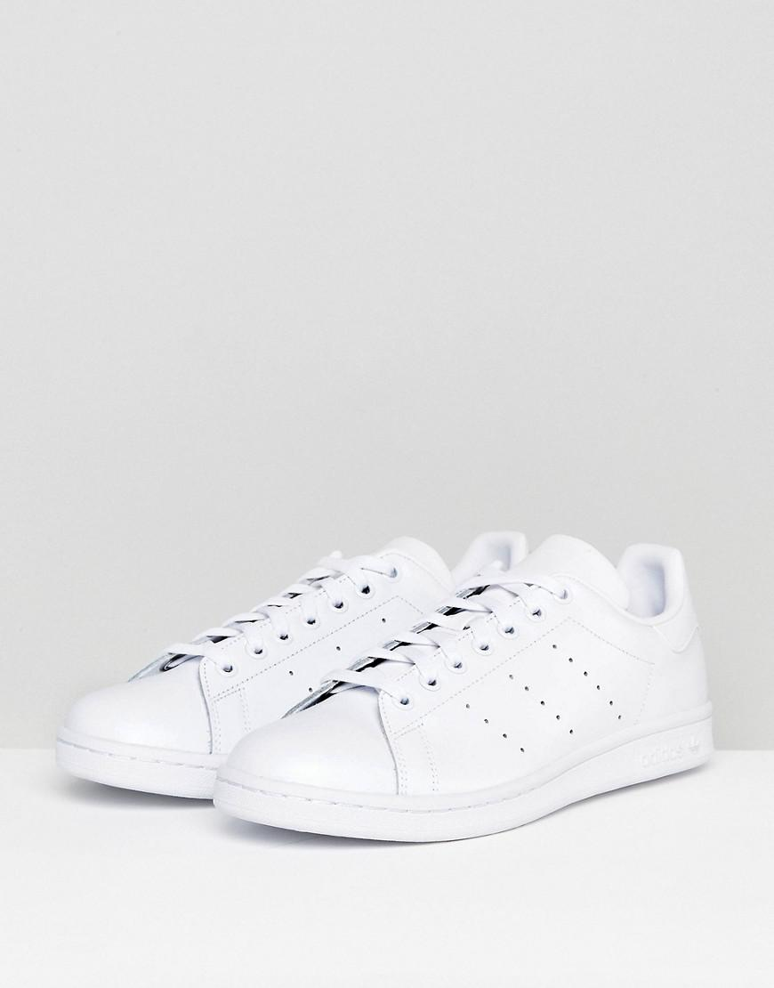65f6fcd58c65 adidas Originals Stan Smith Trainers In White S75104 in White for ...