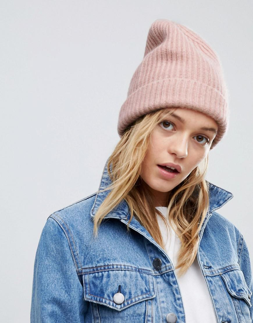 Lyst - Weekday Cashmere Beanie in Pink feb992a38f6