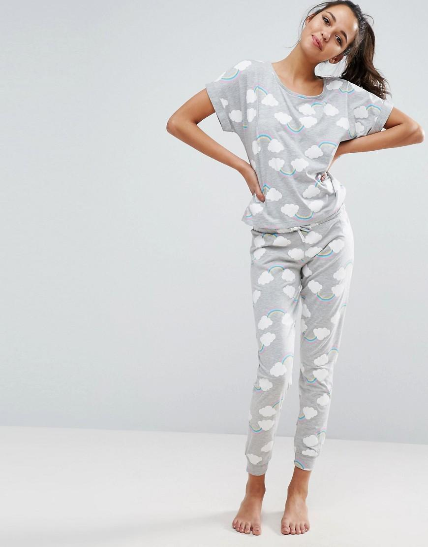 Asos Rainbow Tee Amp Legging Pyjama Set Lyst