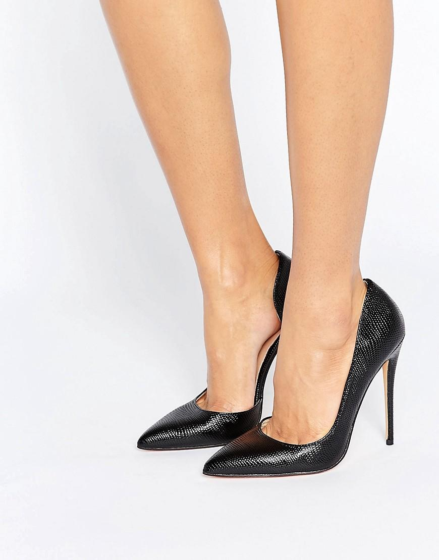 b80da7762 Lost Ink Fifi Black Cut Out Court Shoes in Black - Lyst