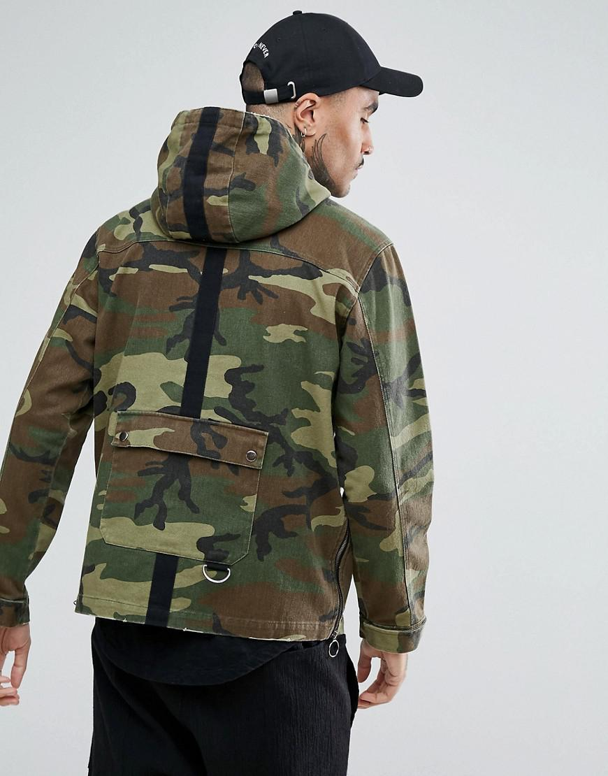 952f6bb2ce2e8 Black Kaviar Overhead Jacket In Camo in Green for Men - Lyst