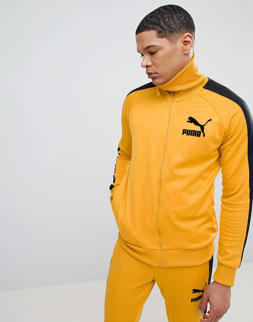 db4265fa710e PUMA T7 Vintage Track Jacket In Yellow 57498548 in Yellow for Men - Lyst