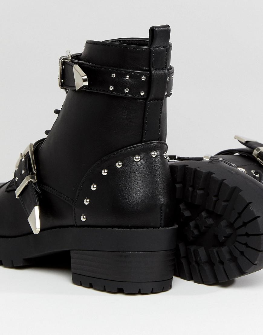 Truffle Collection Studded Strap Hiker Boot GFem1Nzm