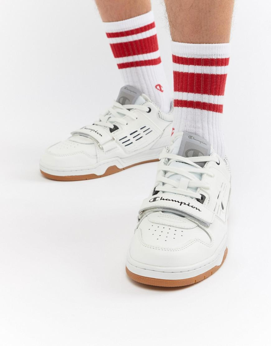 f780a987af51b Champion 3 On 3 Low Trainers In White in White for Men - Lyst