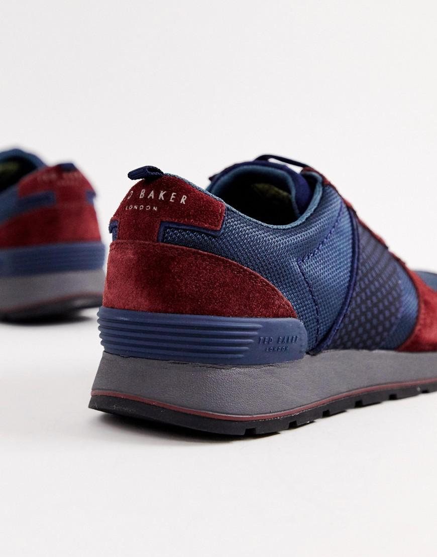 598594a75a04 Ted Baker Jaymz Runner Trainers In Navy in Blue for Men - Lyst