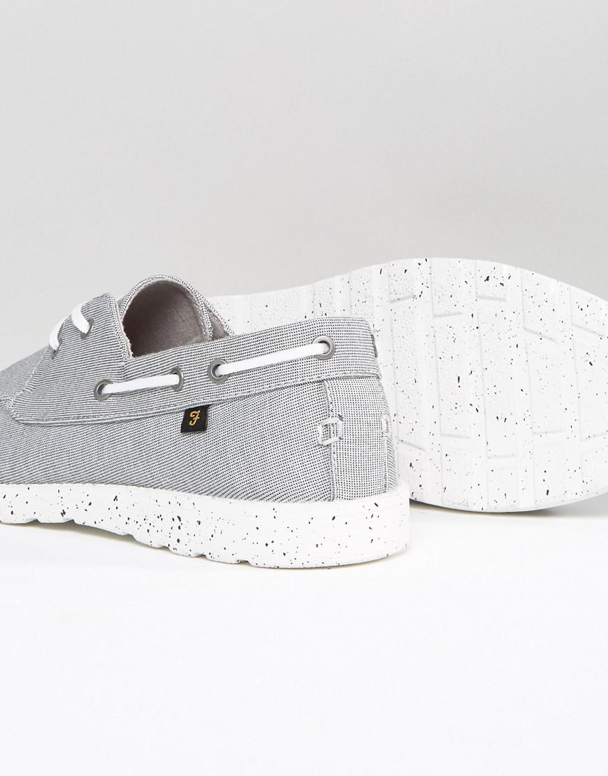 Clegg Canvas Boat Shoes In Grey - Grey Farah hoKS4BSaCW