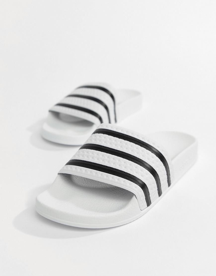 38f7a1732c7f1 Lyst - adidas Originals Adilette Sliders In White 280648 in White ...