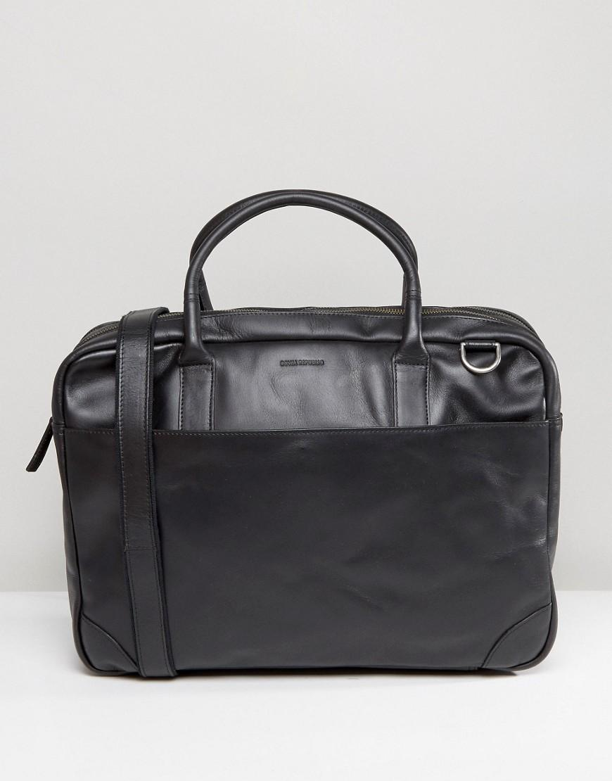Royal republiq Explorer Leather Laptop Bag With Double ...
