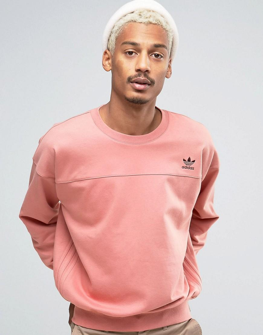 adidas originals fallen future sweat in pink br1809 pink in pink for men lyst. Black Bedroom Furniture Sets. Home Design Ideas