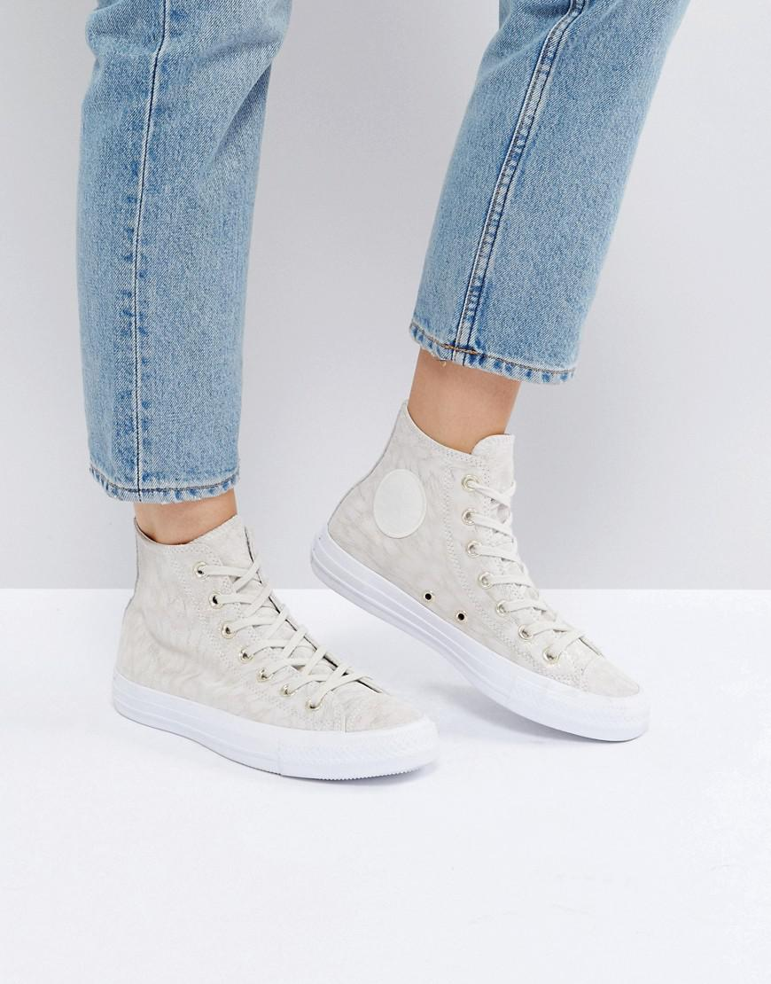 bee6c6bb1fc6 Lyst - Converse Chuck Taylor All Star Hi Top Sneakers In Pale ...