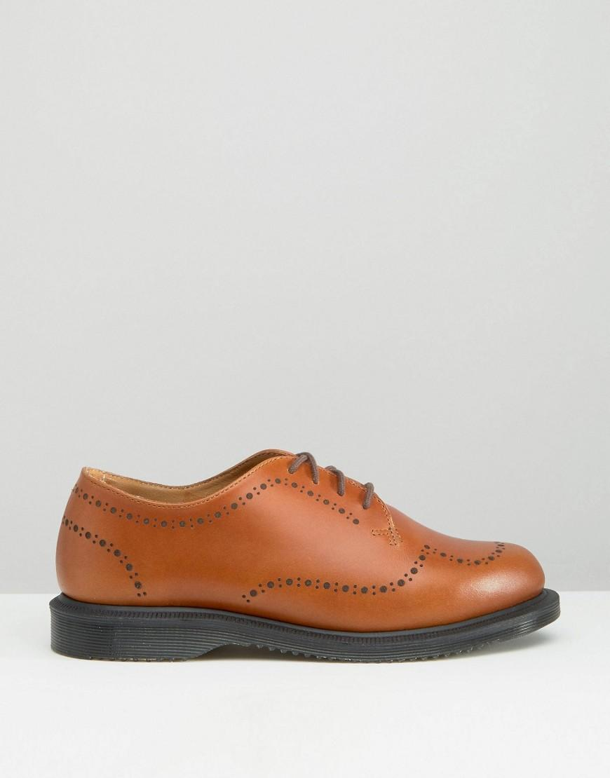 Charlotte Tan Leather Brogue Shoes