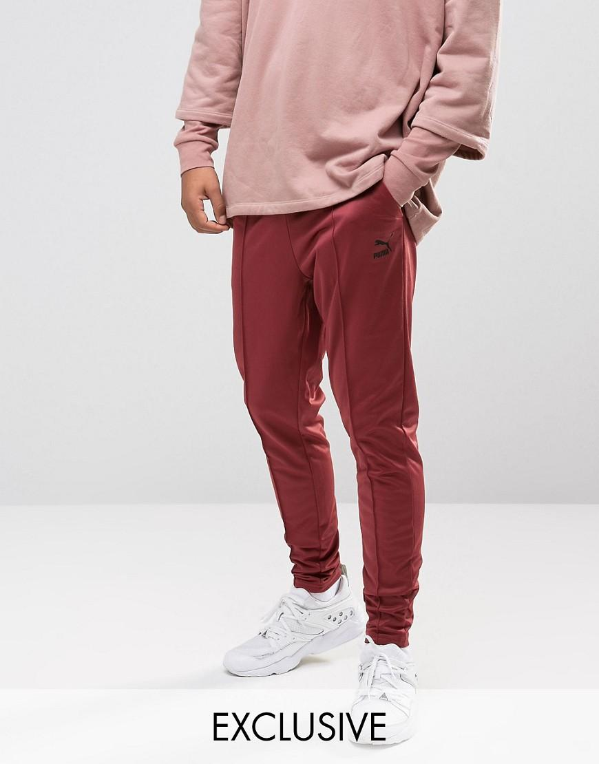 d30d1014bf25 PUMA Skinny Track Joggers In Red Exclusive To Asos in Red for Men - Lyst