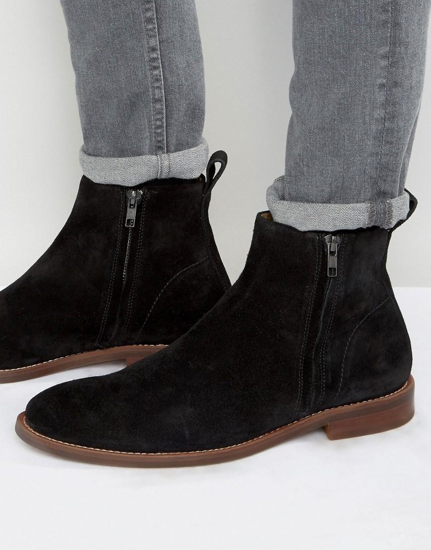 b90a80b4d1d6 Lyst - ALDO Bilissi Suede Chelsea Boots in Black for Men