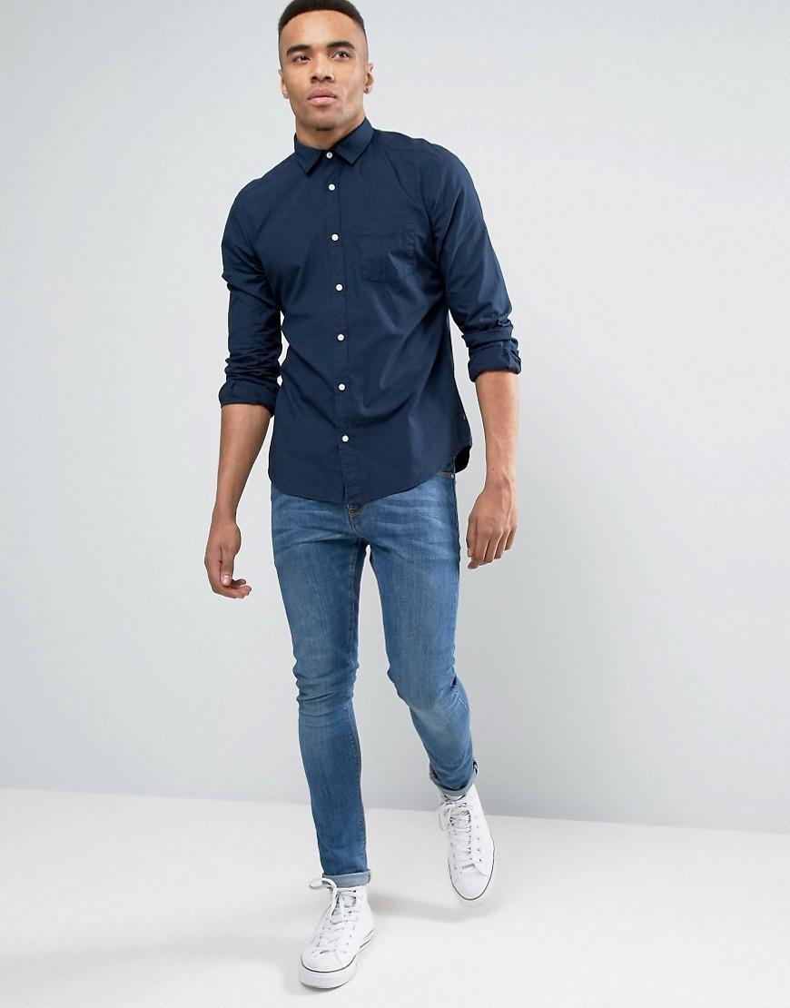 Lyst Esprit Slim Fit Button Down Shirt In Navy In Blue