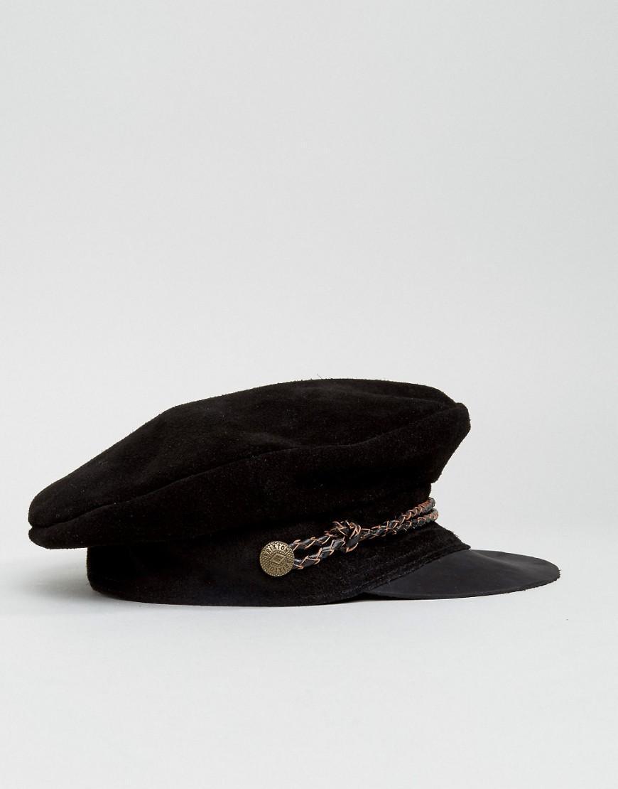 Lyst - Brixton Baker Boy Hat In Leather in Black c64989a7856