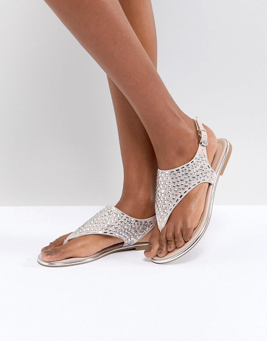 ALDO T Bar Sandal with Diamante Gems comfortable sale online clearance get to buy outlet sneakernews for sale under $60 for sale official site nYumH6I3L4