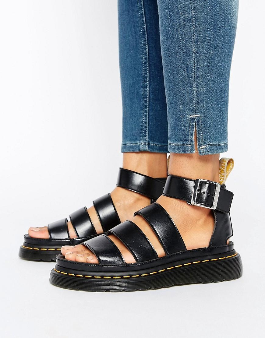 3540866e0243a Dr. Martens Clarissa Vegan Strappy Flat Sandals in Black - Lyst
