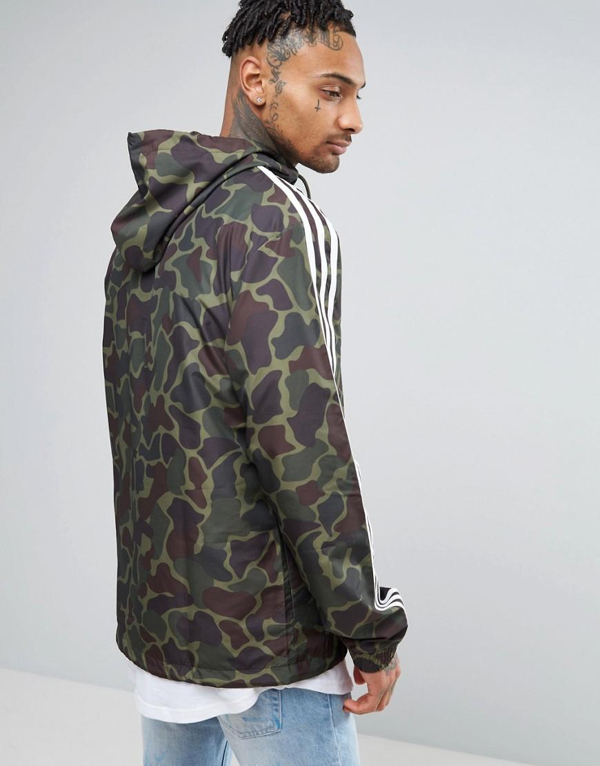 854700480a Lyst - adidas Originals Windbreaker Jacket In Camo Bj9997 in Green ...