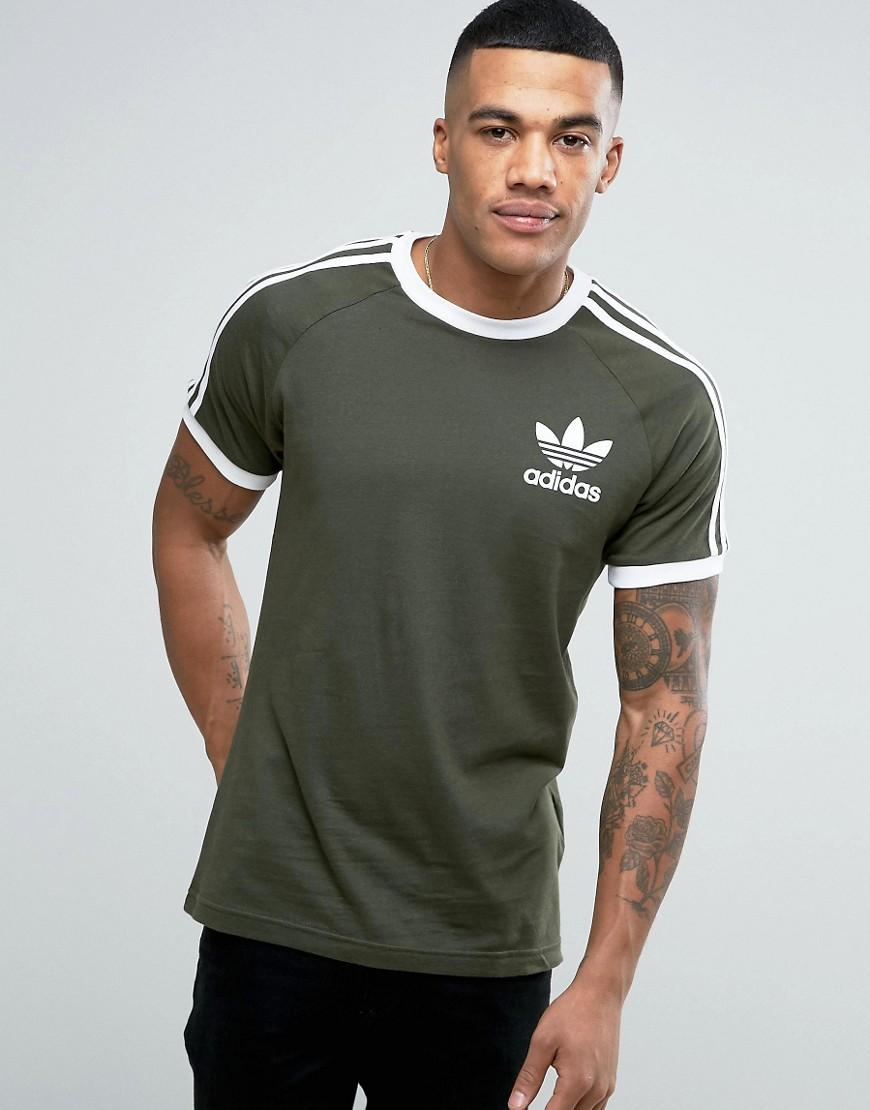 adidas originals california t shirt in green bq5369 in green for men. Black Bedroom Furniture Sets. Home Design Ideas