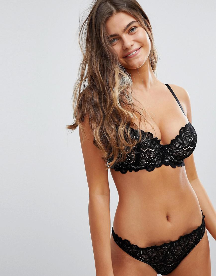 a6ee1f22f8 ASOS - Black Asos Fuller Bust Amelia Paisley Lace Padded Underwire Bra -  Lyst. View fullscreen