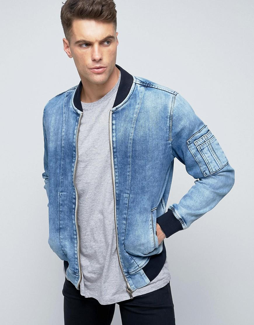 4f977bac78 Pepe Jeans Pepe Archive Denim Bomber Jacket in Blue for Men - Lyst