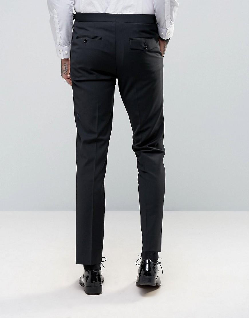 Hart hollywood Skinny Suit Pants in Black for Men | Lyst