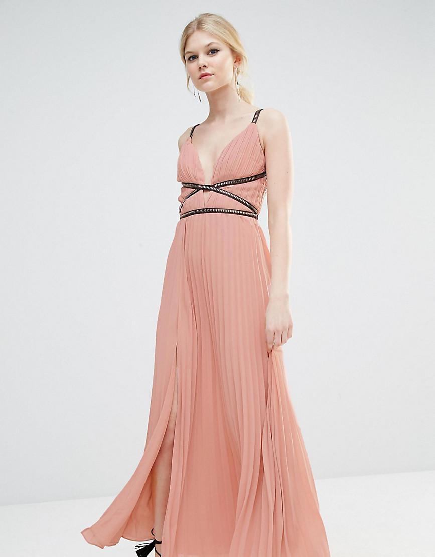 f0a6676e20 True Decadence Grecian Style Maxi Dress In Pleat Fabric in Pink - Lyst