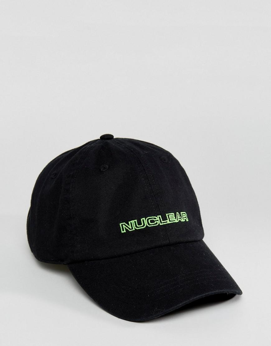 Baseball Cap In Black With Nuclear Embroidery - Black GRANTED u8tqdRBQI9