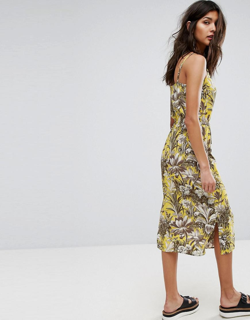 Purchase Cheap Price Amazon Print Dress - Yellow Warehouse Clearance Cheap Newest Cheap Online Shop Offer Online LV79ec1o