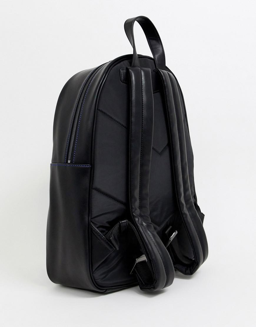 84694197f966 Emporio Armani Embossed Large Eagle Backpack In Black in Black for Men -  Save 20% - Lyst
