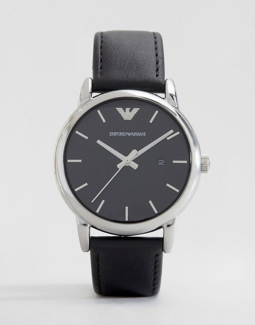 b91e14ba7 Emporio Armani - Black Ar1692 Leather Strap Watch for Men - Lyst. View  fullscreen