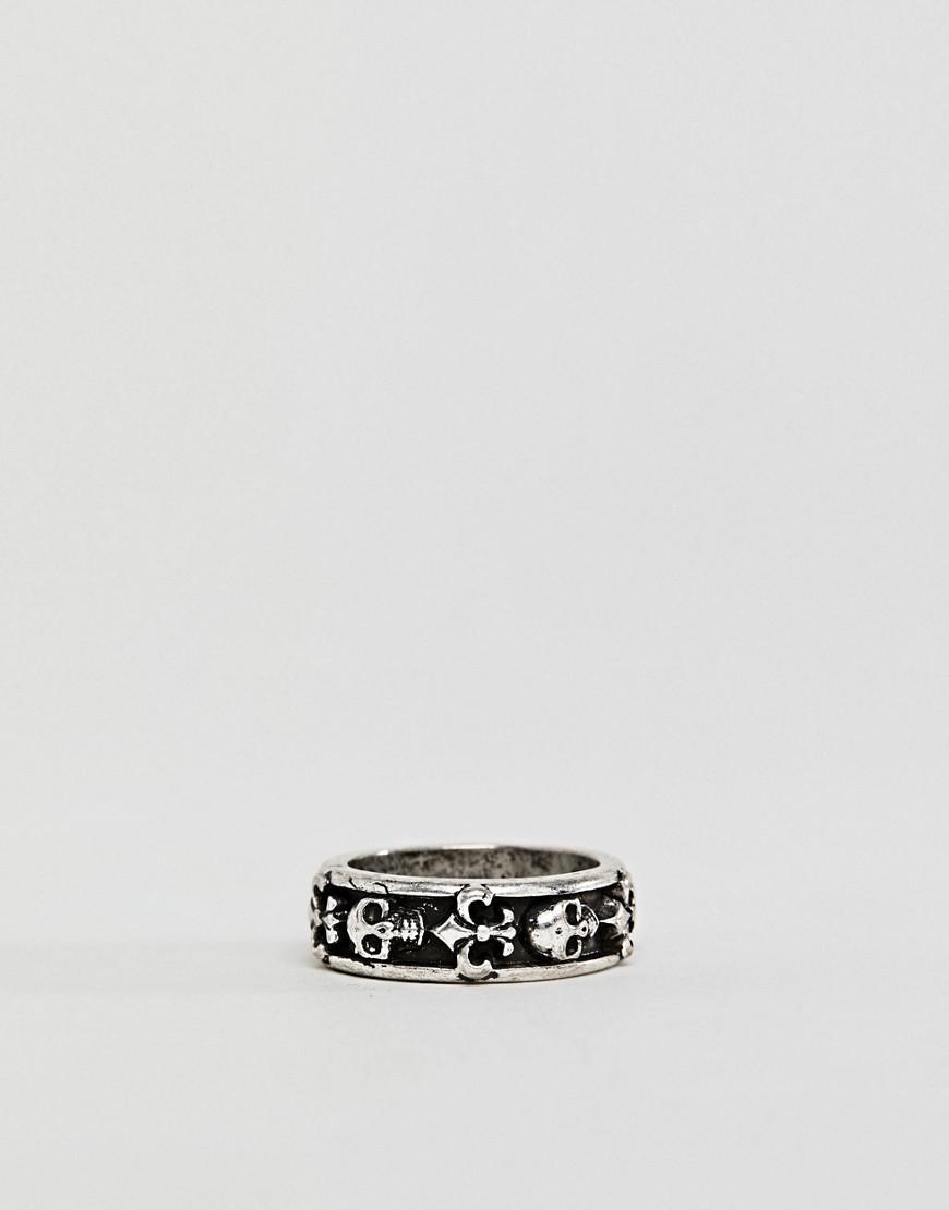 Reclaimed Vintage inspired ring with skull exclusive at ASOS - Black z5KCVfBhlu