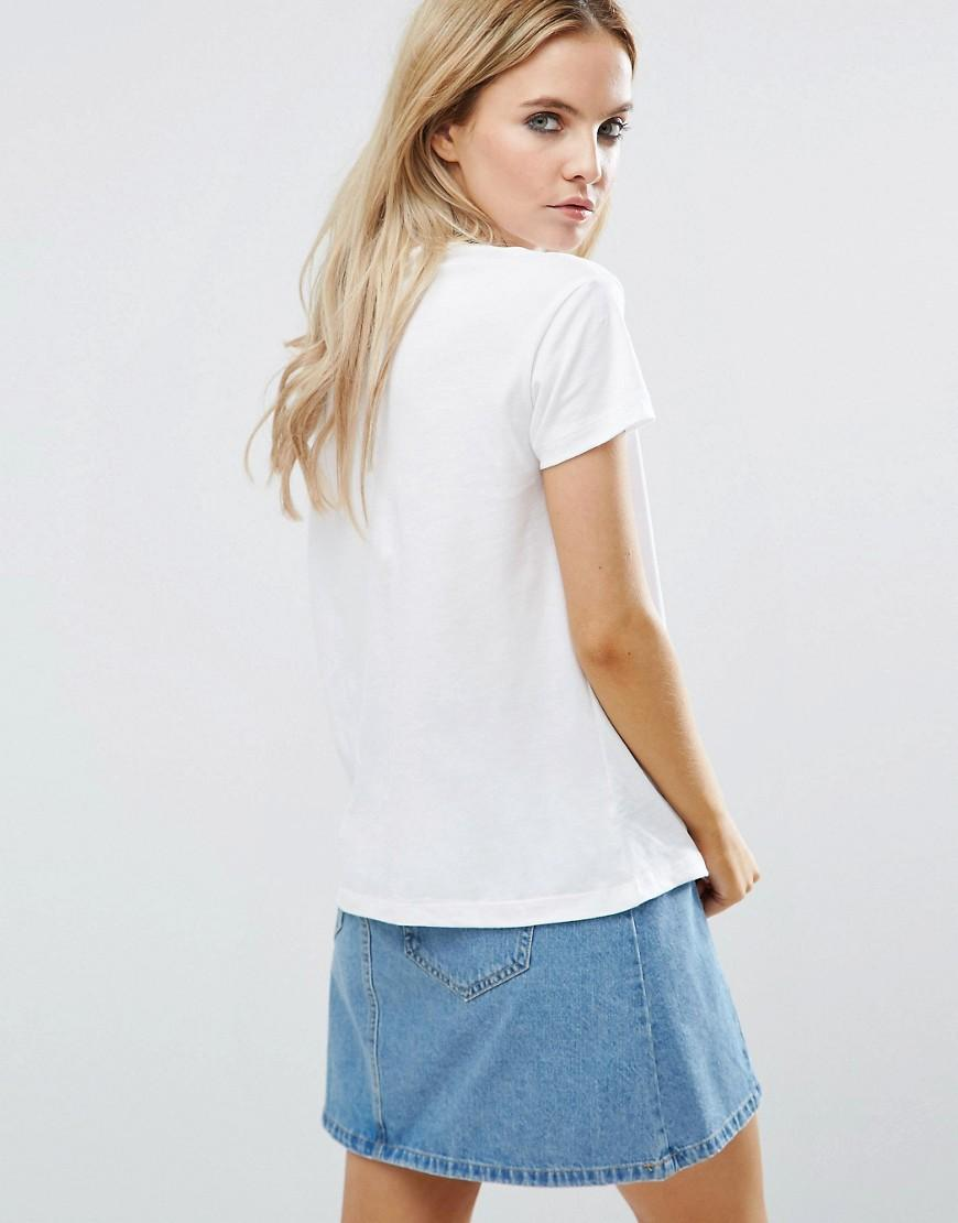 Noisy May Petite Motorcycles T Shirt In White Lyst