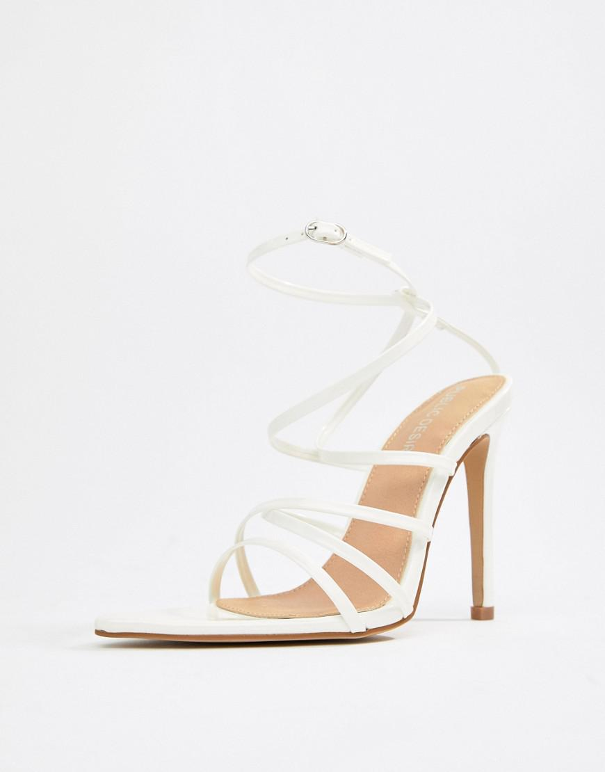 7c3ca25155b Lyst - Public Desire Sultry White Patent Strappy Sandals in White