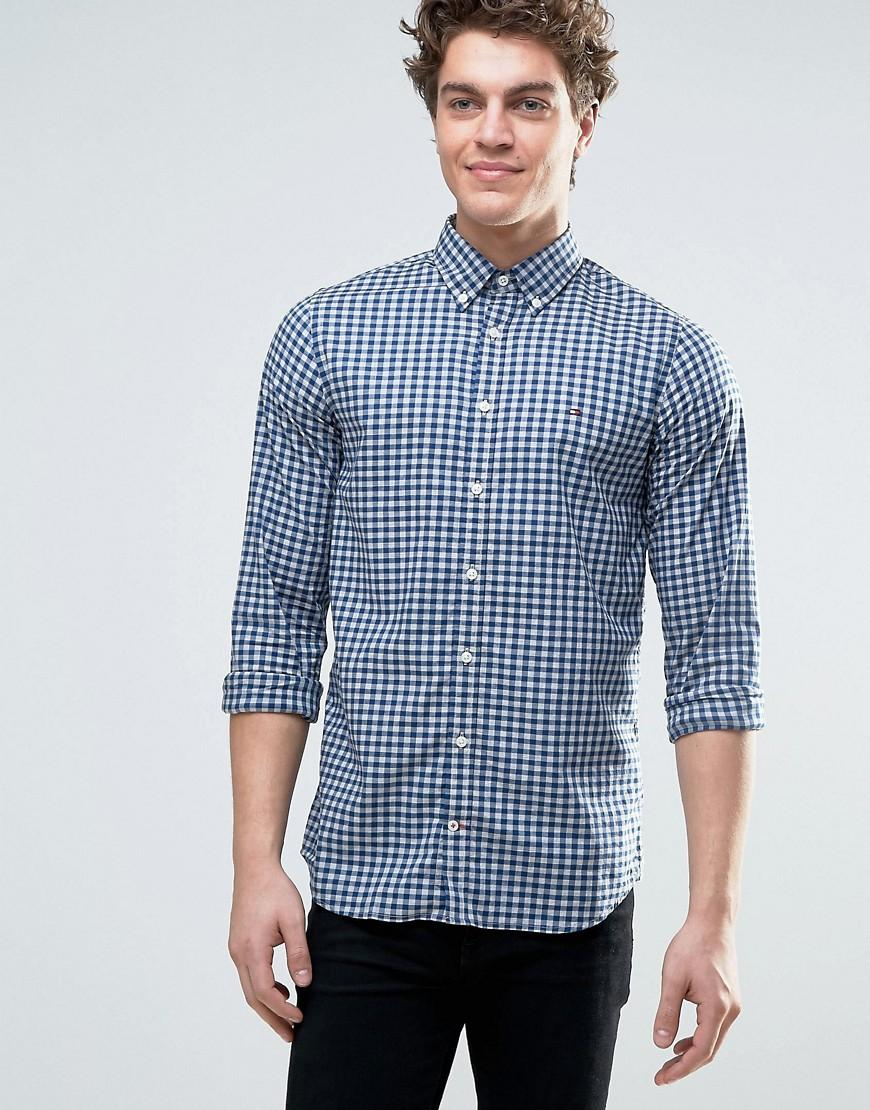 Lyst Tommy Hilfiger Slim Fit Gingham Checked Shirt In