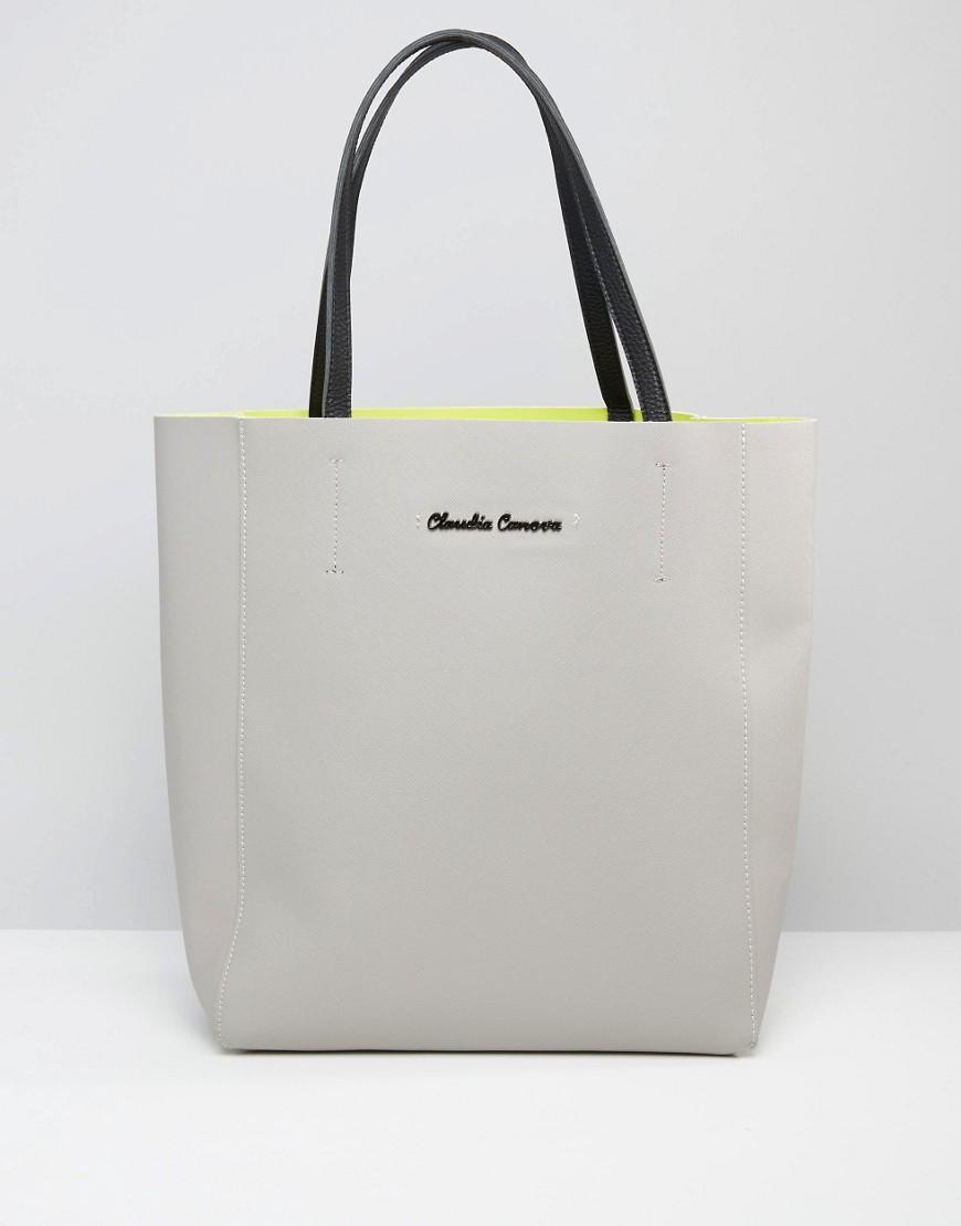 Claudia Canova Colour Block Tote Bag In Gray Lyst