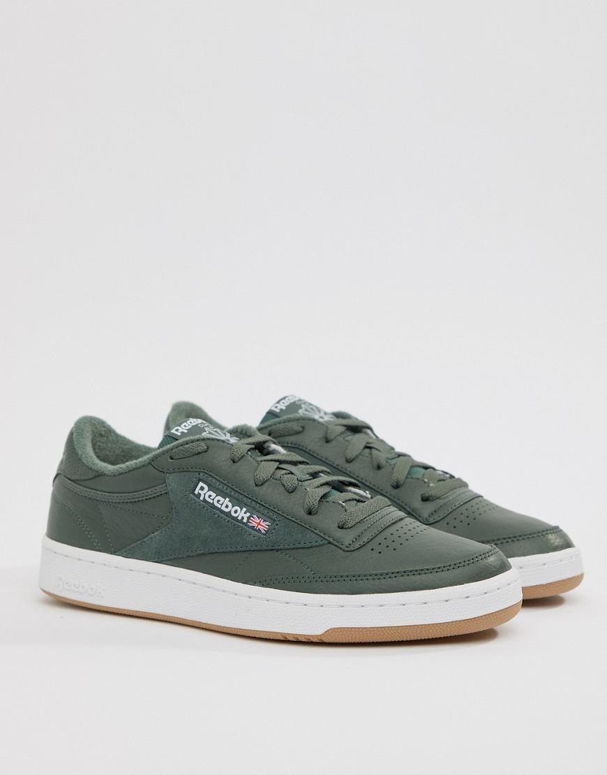 Reebok Club C 85 Essential Sneakers In Green Cm8793 in Green for Men ... b619be041