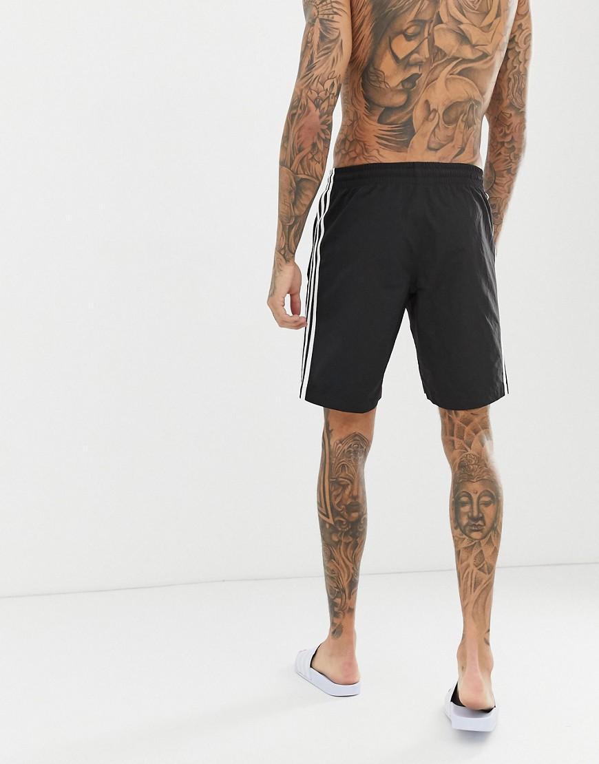 30f712fa15 Lyst - adidas Originals 3 Stripe Swimming Trunks Black Cw1305 in Black for  Men