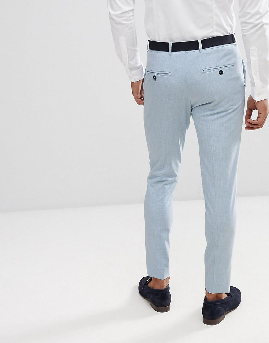 Lyst - Selected Super Skinny Wedding Suit Trousers in Blue for Men