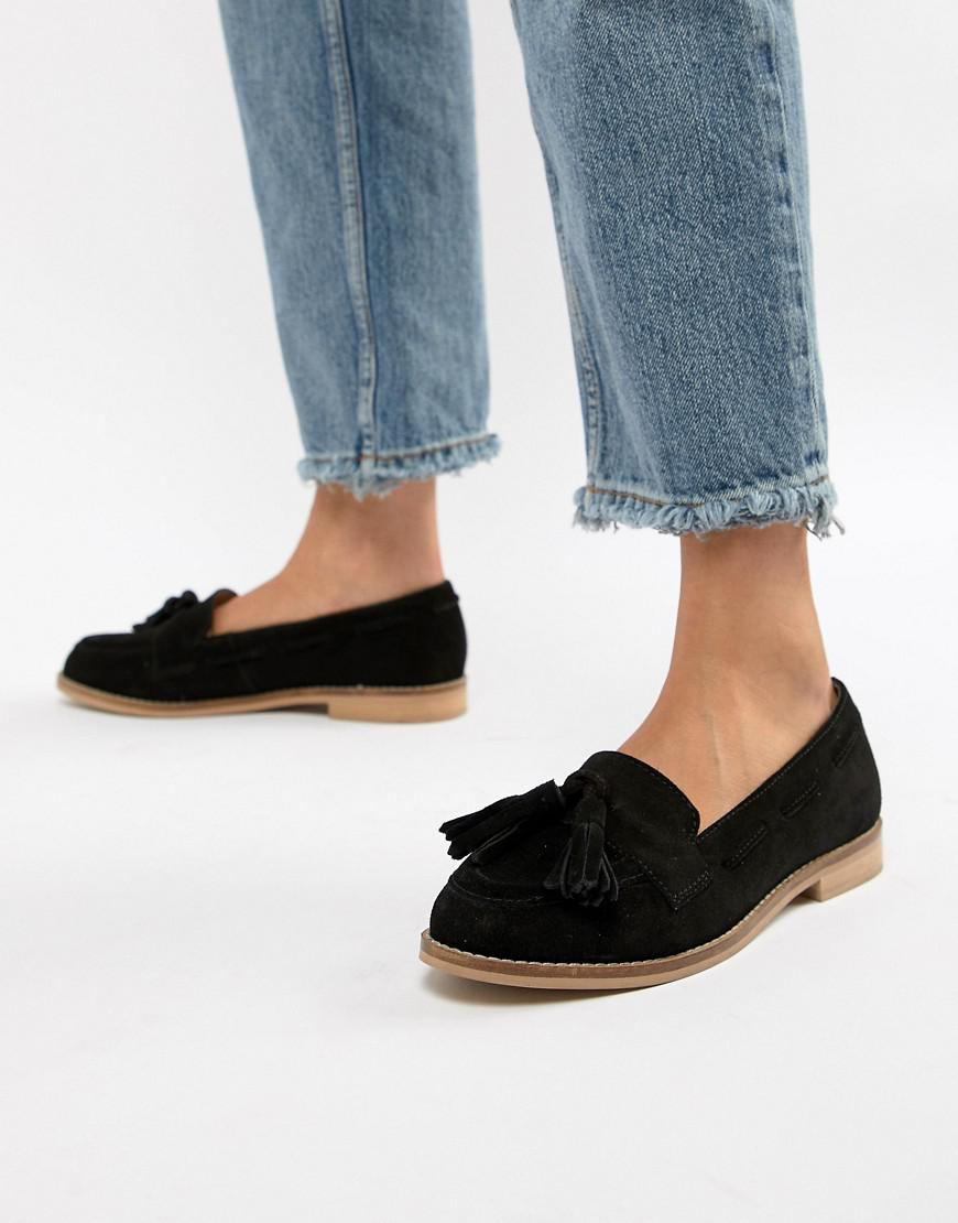 83650211532 Lyst - ASOS Wide Fit Message Suede Tassel Loafers in Black - Save 41%