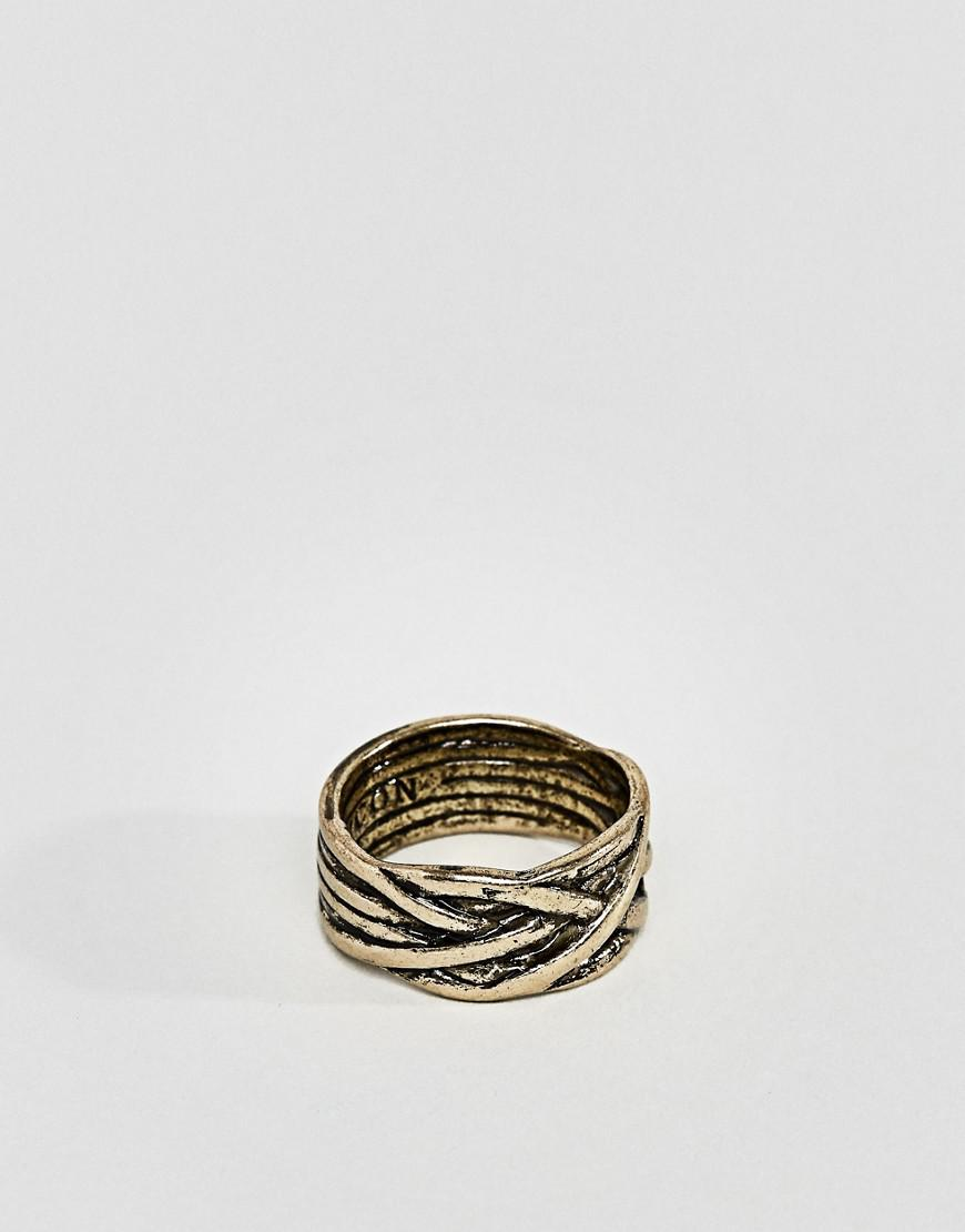 Icon Brand Band Ring In Gold - Gold TcXioRA